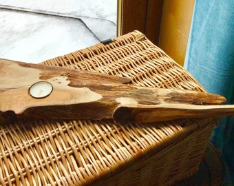 Reclaimed Wooden Candleholder; Scottish elm wood, perfect for Mother's Day gift, fifth anniversary.