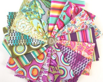 Chipper Fat Quarter Bundle of 16 by Tula Pink for Free Spirit Fabrics