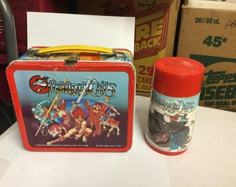 Thundercats lunch box and Thermos 1980s