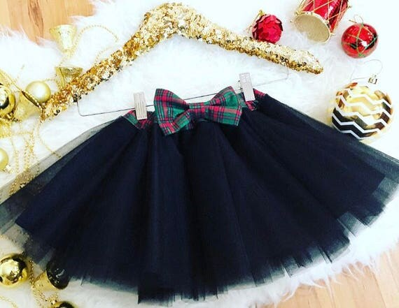 Kids Hoilday Plaid skirt with Bow