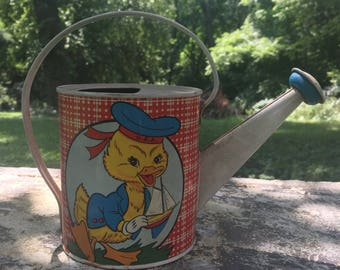 Vintage OHIO ART watering can free shipping within continental US