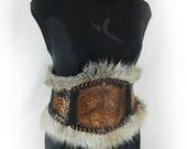 Leather armor belt female...