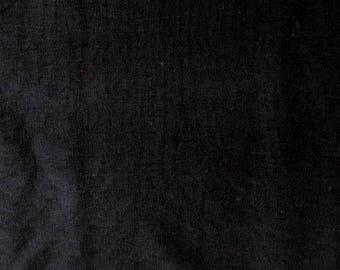 Fabric - 100% Linen - black - medium weight woven linen.