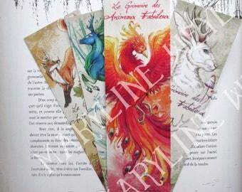 Fabulous set of 4 animal bookmarks