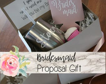 bridesmaid proposal box, will you be my, bridesmaid gift, bridesmaid box, proposal gift, proposal box, personalized wine tumbler