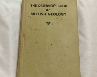The Observer's Book of British Geology Book I. O. Evans cir 1951 HC