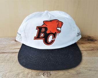 BC LIONS Football Team Original Vintage 90s BC Place Stadium Promo Snapback Hat CfL Canadian Football League Cap Harvest Well 2 Tone Ballcap
