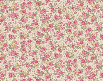 Victorian Rose - Cream 2320-14A by Quilt Gate Cotton Fabric Yardage