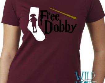 Harry Potter Free Dobby Shirt, Dobby, Harry Potter Shirt, Magic Wand, Hogwarts, Wizard, Muggle Shirt, Harry Potter, Muggles, Witchcraft