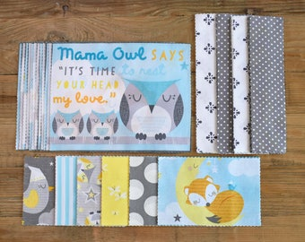 """Precut Quilt Kit For Baby, """"Sweet Dreams Little One"""" by Wilmington Prints, Top only, Instructions for quilt top included"""