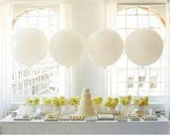 36 inches Giant WHITE latex balloon birthday baby shower wedding party fun decoration