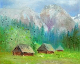 Tatry mountains ORIGINAL OIL PAINTING