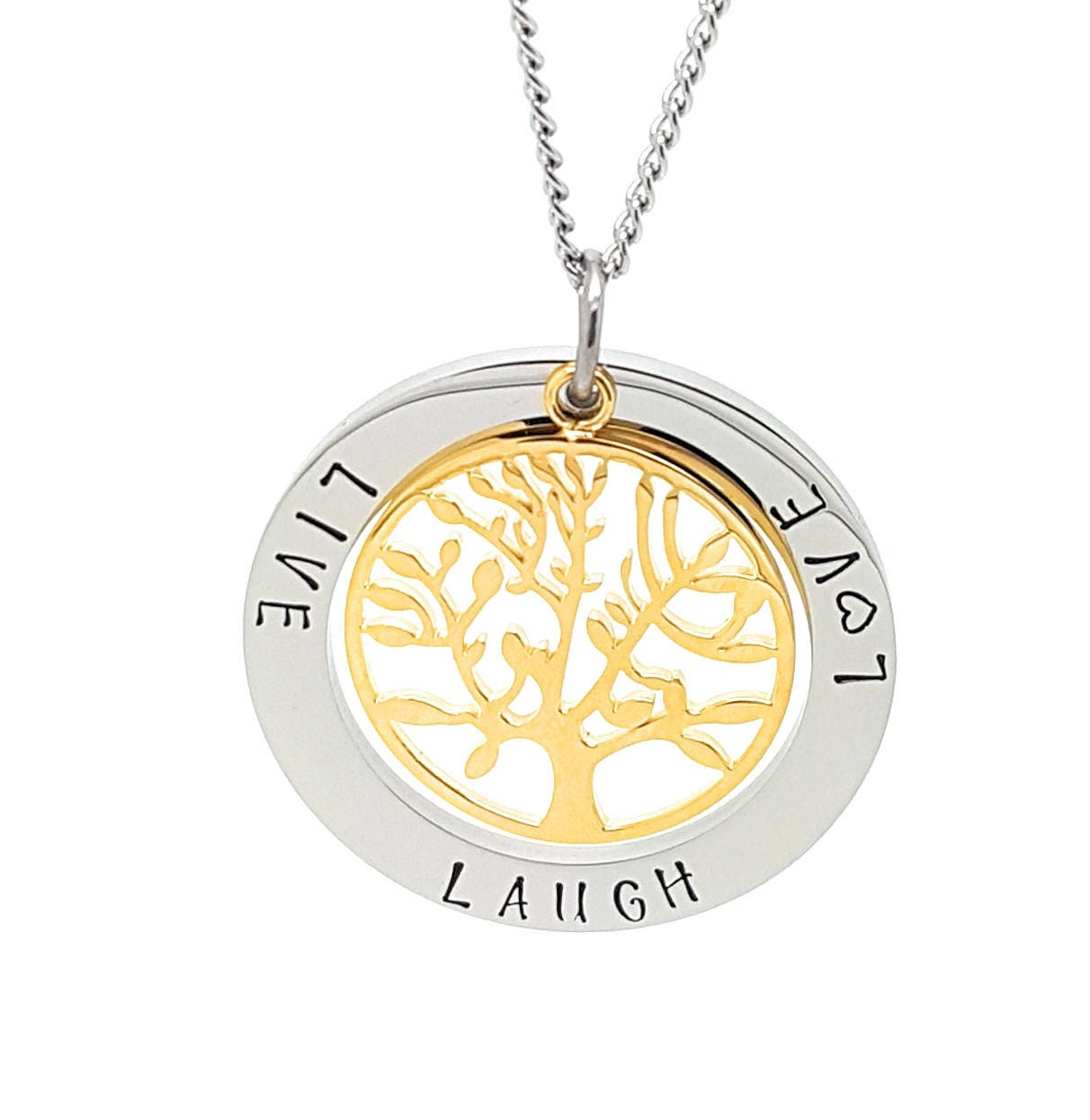 Coorabell crafts live laugh love pendant with silver circle and gallery photo gallery photo gallery photo gallery photo buycottarizona