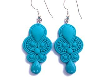 Turquoise Earrings, Turquoise Blue Earrings, Wedding Earrings, Wedding Jewelry, Teal Blue Earrings, Blue Bride Earrings, Teardrop Earrings