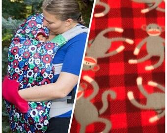 baby carrier cover - fleece carrier cover - babywearing coat - carrier coat - fleece carrier coat - winter baby - fleece coat