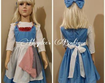 Blue Dress and Apron Set