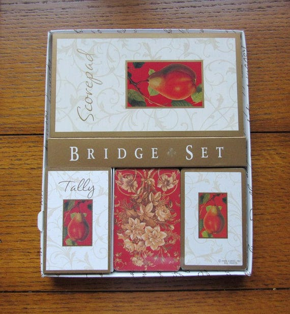 Hallmark Bridge Set Complete With Double Deck Cards, Tally's, Score Pad Never Used NOS