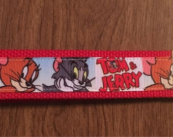 Tom And Jerry Key Chain Zipper Pull Wristlet