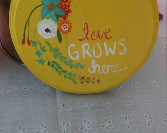 Love grows here plaque