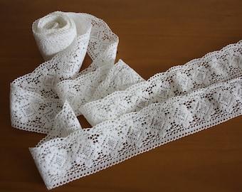 Vintage White Cotton Lace Edge Trim
