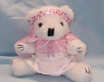 Cancer Gifts for Women/Cancer Gifts/Encouragement for Cancer Patients/Breast Cancer Gift Idea/Cancer Patient Gift/Gift for Her/Teddy Bear