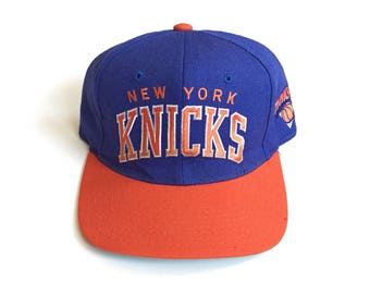 Vintage New York Knicks starter arch Snapback 90s nba basketball Snap back Strapback hat One Size Adult Unisex Wool action bronson blue