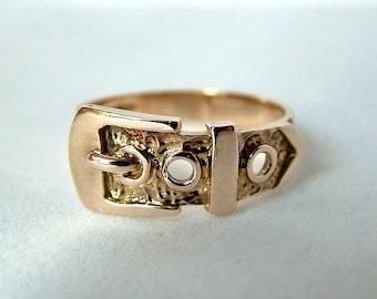 Gold Buckle Ring * Gold Belt Buckle Ring * Gold Belt Ring