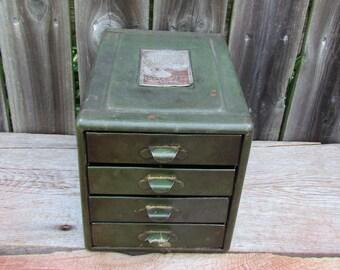 Vintage 1930's File A Way Storage Box, Storage Box, Mini Organizational Cabinet, 4-Drawer Storage System