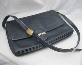 Navy Blue Pourchet Shoulder Bag