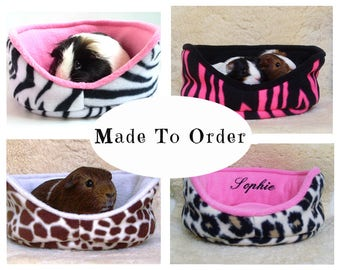 Personalized guinea pig bed | guinea pig cuddle cup | pesonalized pet bed | hedgehog | chinchilla | ferret | bunny | cozy | MADE TO ORDER