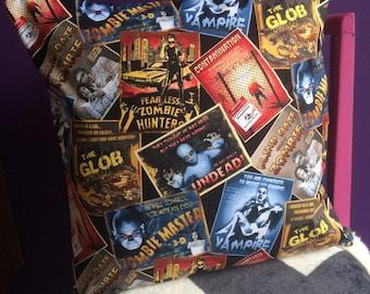 B-Movie/Zombie/Vampire Cushion Cover