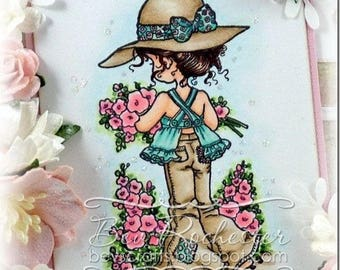Sarah Kay photo polymer clear stamp - Spring is Back