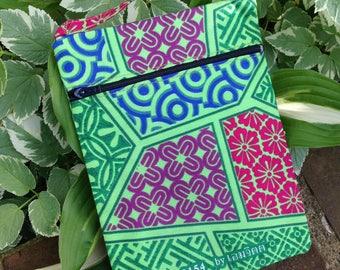 SALE - Thailand Pattern Mini Purse, Sling Purse, Shoulder Bag Purse, Passport Holder, Cell Phone Purse