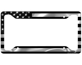License Plate Holders >> License Plate Frame Etsy