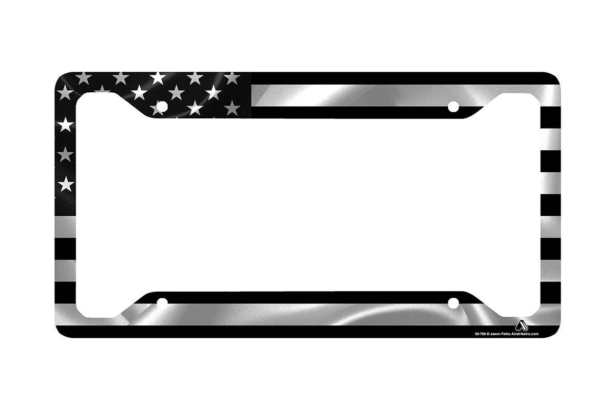 Black American Flag License Plate Frame American Flag Car Tag
