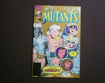 The New Mutants 87, 1st Appearance of Cable, 1990, Gold Cover, X-Factor App, Marvel B03