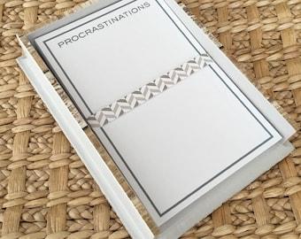 Procrastinations Memo Pad Paper
