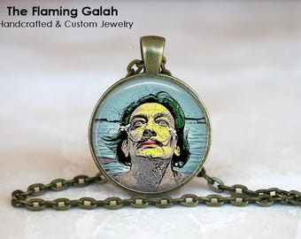 SALVADOR DALI Pendant • Self Portrait • Dali Art • Cubist Art • Dali Jewellery • Famous Artist • Gift Under 20 • Made in Australia (P1163)