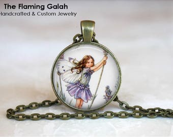 FLOWER FAIRY Pendant • Vintage Flower Fairy • Vintage Fairy • Fairy Art • Gift Under 20 • Made in Australia (P1464)