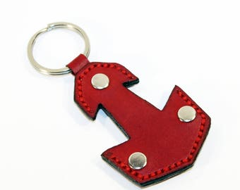 Mjolnir Leather Keychain, Handmade Keychain,Thor's Hammer Mjolnir Leather Keyring, Great gift! Red keychain, Leather keyring.
