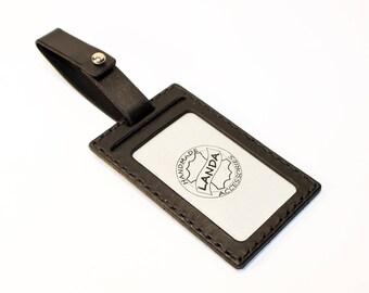 ID Card Holder, Leather Card Tag, Luggage Tag,Business Card Cover, Black ID Card Cover, Leather Luggage Tag Cover, Bsiness ID Card Cover.