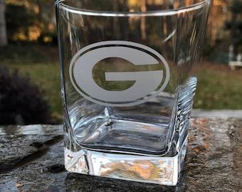 UGA Etched Rocks Glasses