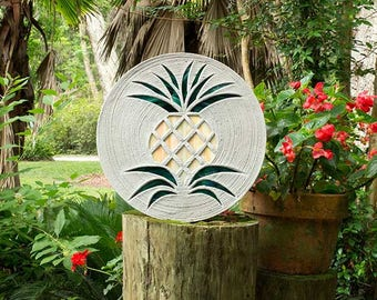 Pretty Pineapple Stepping Stone #538