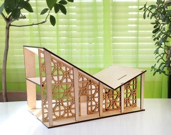 The BUTTERFLY Dollhouse - An original, designer 1:24 scale miniature wooden house for kids and collectors