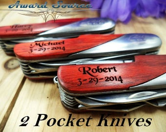 Mens Birthday Gift - Personalized Swiss Knife - Free Engraving