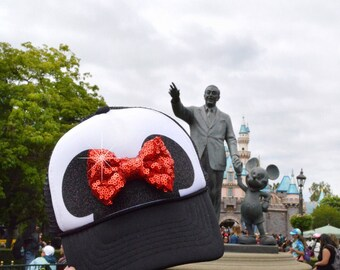 disney hat, disney trucker hat, disneyland hat, mickey hat, mickey ears, MINNIE MOUSE EARS, minnie mouse hat, mickey mouse hat