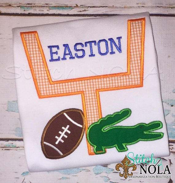 Florida Gators Football Shirt, Florida Gators Applique, Gators Football, FL Gators, Florida Gators Goal Post Shirt, Romper, Bodysuit