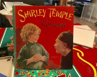 Shirley Temple Book Stowaway Authorized Edition 1937