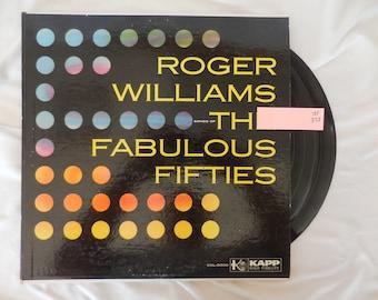 "Roger Williams ""The Fabulous Fifties"" Vinyl LP Record 33 RPM"
