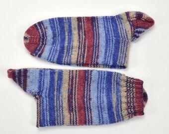 hand knitted men wool socks, UK 10-10,5  US 10,5-11, wool socks, hand knit socks, socks, warm socks, handmade socks, gift for men